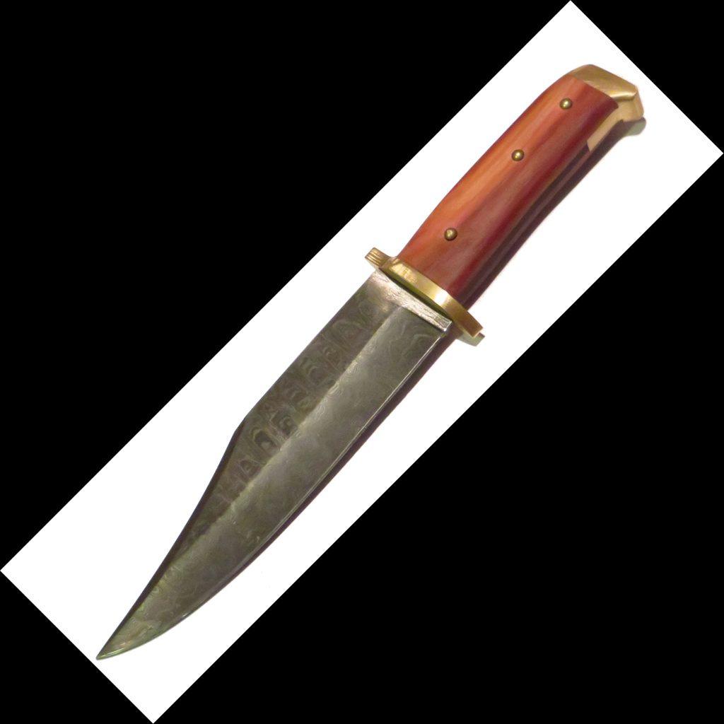 Bowie Messer mit Damast Klinge
